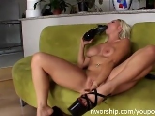 dirty blonde slut in interracial anal fuck