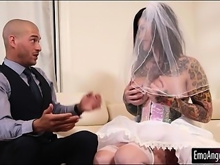 Busty tattooed bride to be Juliana Rose deeply pounded