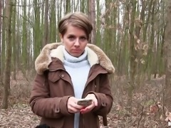 Euro cutie and her very first outdoors pussy penetration