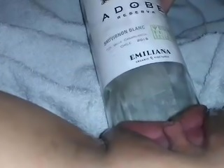 MissXXXandPAIN - Wine Bottle in my sweet pussy