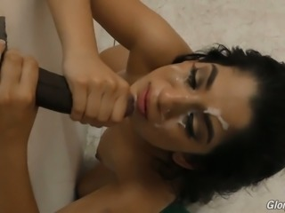 Hot Arab woman Nadia Ali sucks and fucks glory hole dick