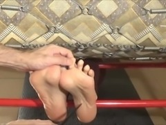 Extreme Feet Tickling in Stocks with seven different tools