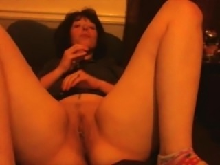 Little Neko smacks her pussy with a crop b4 fucking some vibrators!!!!!!