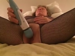 mum in body stocking fucking her cunt