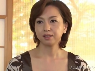 There's a hot titty cumshot in store for this slutty Japanese MILF
