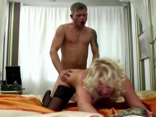 Dirty grandmother fucking young boy