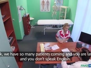 nurse has to fuck doctor, to keep her job