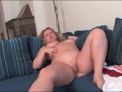 Fat ass girl in boots and sexy lingerie