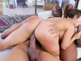 Seductive MILF Reena takes two monster cocks