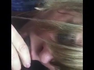 Karmen sucking black dick
