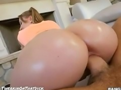 Big White Booty Teen PAWG Twerks Nude Best Dick Riding Ever 2016