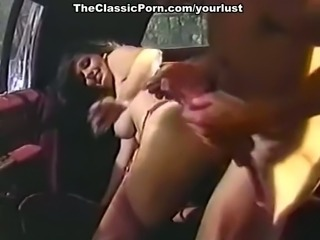 European hot vintage milf Bridgette Monet blows dick in a limo