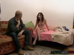 beautiful italian girl first-time hard