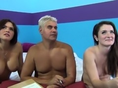 Krissy Lynn and Eden Young eat each others' pussy when one gets fucked