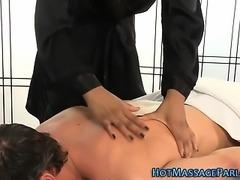 Black masseuse eaten out