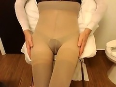 All wrapped up in nylons