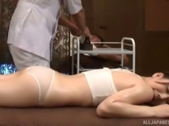 Japanese hottie knows that the massage will end up with the pounding