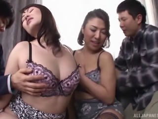 Divine babes from East Asia engage in their very first foursome