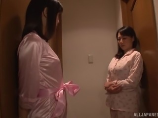 Dominated by a face riding Asian girl in pink lingerie