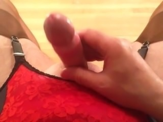 POV masturbation with stockings