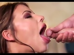 Adriana gives wet throat fuck