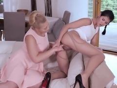 AGirlKnows - Teen Czech Lesbians Ass Licking And Dildo Fuck