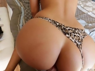 Bubble butt bombshell Amirah Adara wears sexy tight panties as