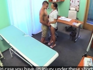 FakeHospital Ripped stud gets the naughty nurses treatment