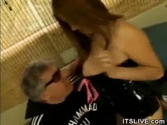 Pussy Licked Asian In Kinky Lingerie