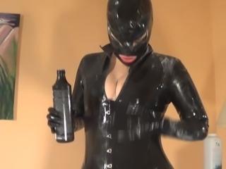 Hot Girl in Latex Catsuit