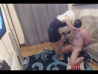 Ballbusting and made Handjob