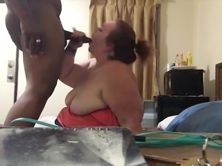 My fat slut wife fucks a Black guy raw at a motel
