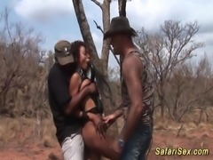 babe punished at the safari trip