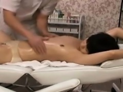 Sexy schoolgirl gets a hot oiled up massage that turns nast