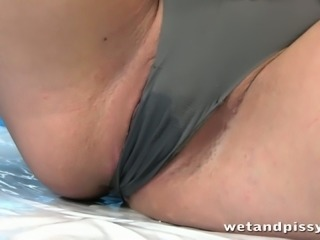 Uncontrollably horny nympho loves peeing everywhere