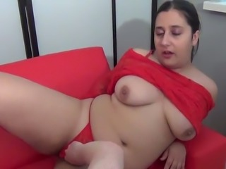 Freaky dude fucks fat busty brunette Kimberly Scott in mish style tough