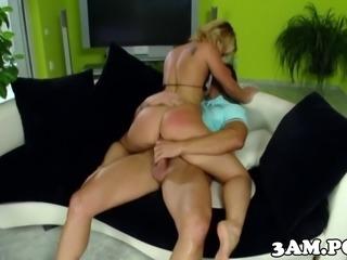 Bikini booty babe anallyfucked doggystyle