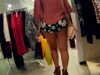 Young fresh ass in flower shorts