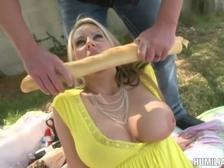 BDSM penetration action for the blonde chick with juicy tits