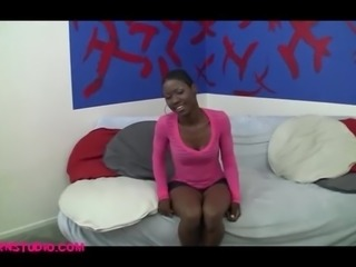 Street pickup skinny black girl fucked by chris charm