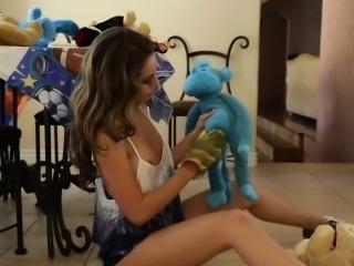 Cum faced teen babysitter