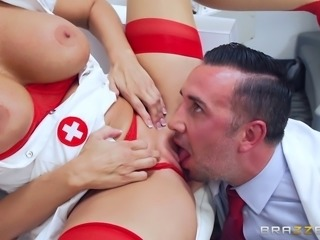 Busty Reagan Foxx is a kinky nurse who loves the hardcore drilling