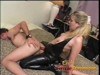 Wife gets fucked and then returns the favor with a strap-on