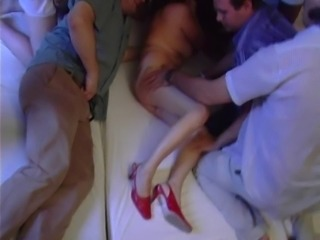 mature gang bang spermed body