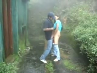 Kinky amateur Desi bitch was fucked from behind outdoors on camera
