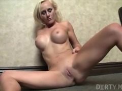 Sexy Blonde With A Shaved Pussy