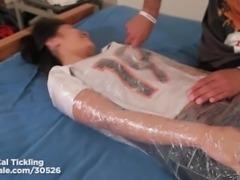 Jacky Fay Lynn's Upperbody tickled in plastic