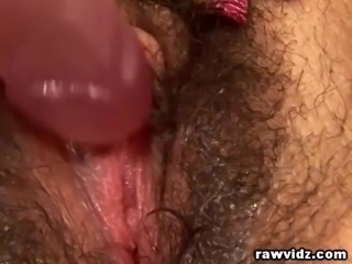 Teen Latina Dildoing Her Hairy Wet Pussy