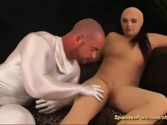 spandex catsuit anal sex with busty doll