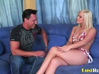 Sexy blonde babe Tara Lynn gets ravished hard